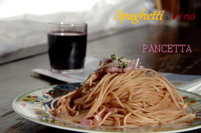 spaghetti al vino