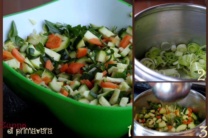 zuppa di primavera step by step DEF