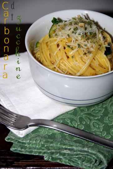 carbonara vegetariana  di zucchine 1
