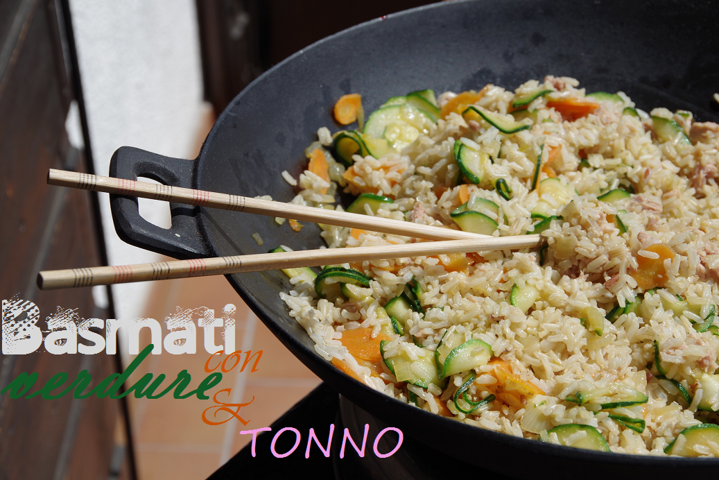 basmati con verdure e tonno rbasmati rice with vegetables and tuna