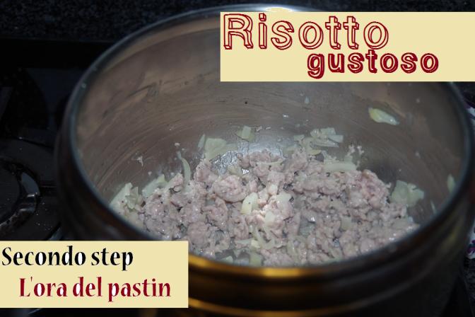 secondo step salsiccia risotto