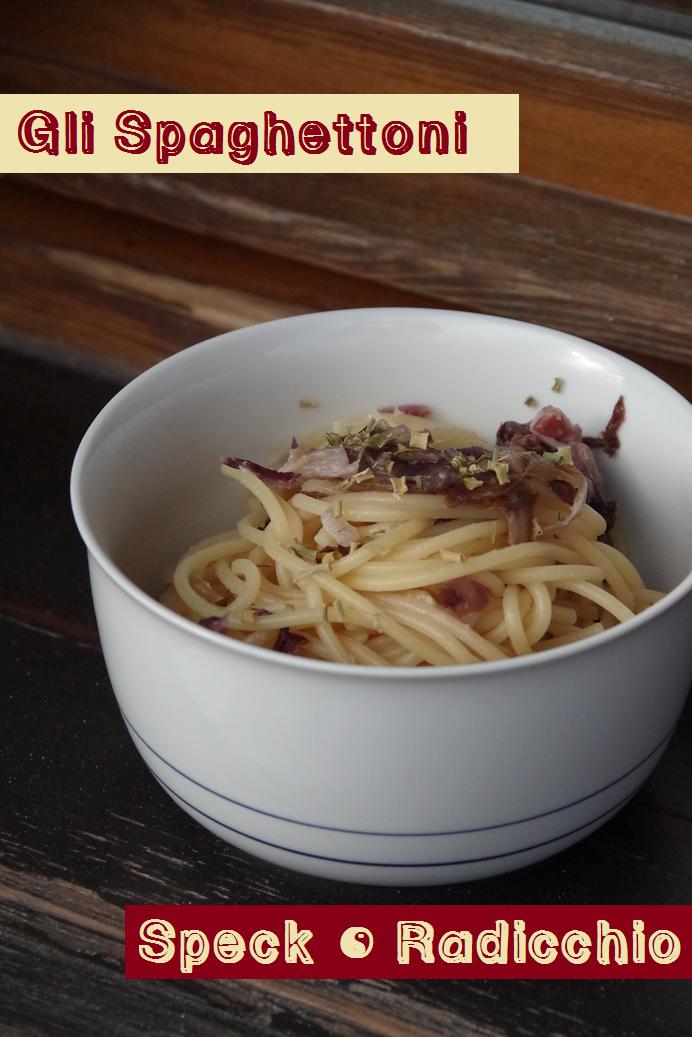 pasta spaghetti con radicchio