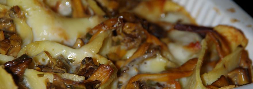 crespelle ai funghi e formaggio
