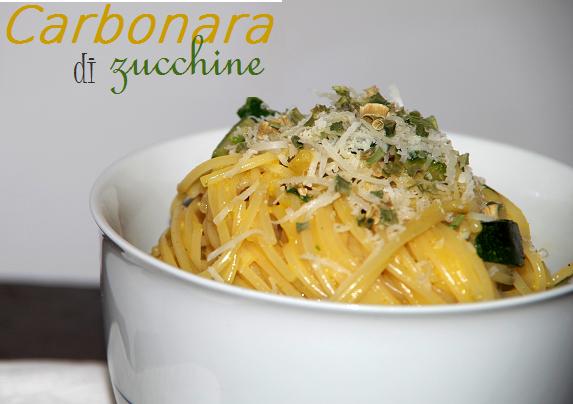 carbonara with zucchini
