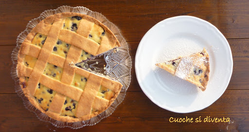 italian blueberries and ricotta tart