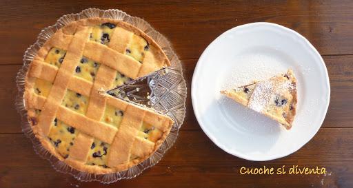 italian blueberries and ricotta tart