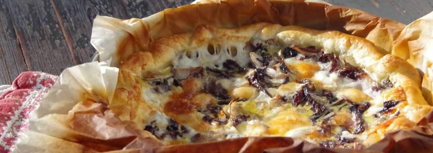 torta salataRADICCHIO E LATTEBUSCHE