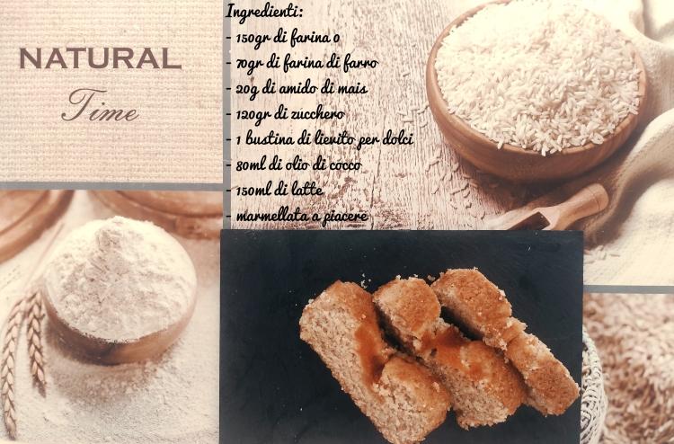 plumcake olio di cocco